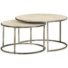 Modern Basics Round 2 Piece Bronze Coffee Table Style 2j536 This Round Bronze