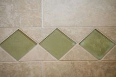 glass and tile comination