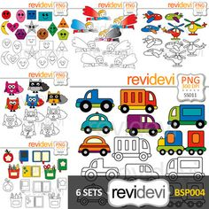 Clip art bundle special pack featuring transportation, superhero, school supplies, and shapes. Cliparts are in color and black and white version.A great resource for teacher seller for creating learning materials for pre-K, kindergarten, and elemntary students.