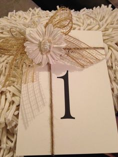 DIY Table numbers for reception