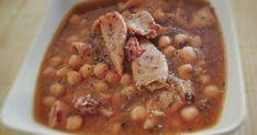 """Fabulosa receta para Garbanzos con calamares """"Crook Pot"""" pqn mqw. Estos días festivos y para los que duplicamos el trabajo.Son de mucha ayuda estas ollas que te hacen poder cocinar un plato caliente de forma sencilla y al regresar del trabajo tenerlo ya listo. En España no son muy conocidas pero os aseguro que son muy prácticas."""