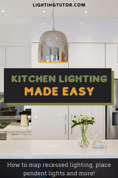Kitchen lighting does not have to be difficult. Learn the steps you should take to help layer the lighting properly in your kitchen Home Lighting, Lighting Ideas, Interior Decorating Tips, Design Your Kitchen, Kitchen Lighting Fixtures, Under Cabinet Lighting, Island, Home Improvement Projects, Easy Projects