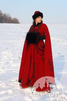 Medieval Fantasy Wool Winter Coat Queen Of Shamakhan par armstreet