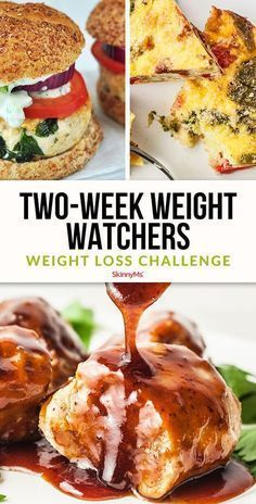 Two-Week Weight Watchers Weight Loss Challenge - Diet Plan Weight Watchers Meal Plans, Weight Watchers Smart Points, Weight Watchers Diet, Weight Watcher Dinners, Weight Loss Meals, Weight Loss Challenge, Weight Watcher For Free, Weight Watchers Recipes With Smartpoints, Weight Watchers Program