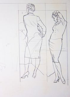In keeping with our current theme of posting working sketches by the great illustrators, today let& look at some unpublished drawings by Au. Figure Sketching, Figure Drawing Reference, Storyboard, Drawing Sketches, Art Drawings, Vintage Drawing, The Draw, Art Graphique, Character Design References