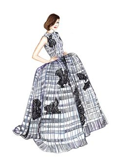 Couture Dress #dollmemories #dior #fashion #fashionillustration