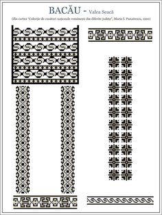 Semne Cusute Folk Embroidery, Cross Stitch Embroidery, Embroidery Patterns, Machine Embroidery, Cross Stitch Designs, Cross Stitch Patterns, Wedding Album Design, Moldova, Antique Quilts