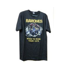 Ramones Road to Ruin Tour 1979 Rock Tank Top T-shirt Black Size Large... (€16) ❤ liked on Polyvore featuring tops, t-shirts, shirts, tees, t shirts, tee-shirt, shirt top, rock shirts and rock t shirts