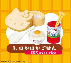 1:6 scale miniature food Re-ment Hello Kitty Nonbiri Biyori #1, Hello Kitty Re-ment, Sanrio Re-ment, Re-ment Hello Kitty Nonbiri Biyori Rice by claydoughandme on Etsy