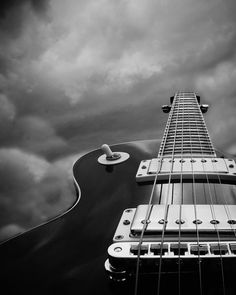 Guitar Photography Black And White Home