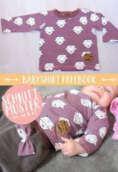 56 & gratis Schnittmuster The post Lybstes Freebook: Babyshirt Gr. 56 & gratis Schnittmuster appeared first on Mom. Sewing Projects For Kids, Sewing For Kids, Baby Sewing, Sewing Patterns Free, Free Sewing, Baby Patterns, Pattern Sewing, Free Pattern, Sewing Designs