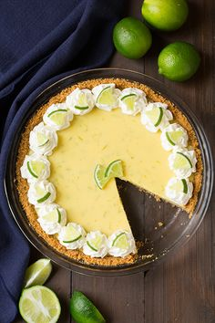 Isn& key lime pie simply the perfect spring and summer pie? It& so vibrant and refreshing, just as the bright seasons of the year are. Frozen Key Lime Pie, Best Key Lime Pie, Just Desserts, Delicious Desserts, Lime Desserts, Italian Desserts, Key Lime Cheesecake, Summer Pie, Lime Recipes