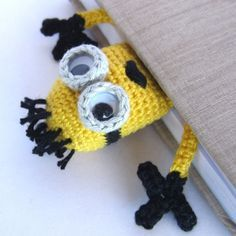 Amigurumi Minion Bookmark Crochet Pattern for purchase. Inspiration.