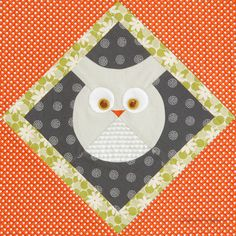 Blocks: We're Giving Them Away | Quilty Pleasures Blog:  Roly Poly Owl