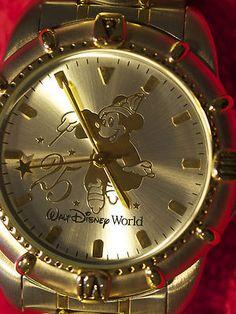 Mickey Mouse Watch 25 Anniversary Walt Disney World Sorcerer Fantasia Ed | eBay