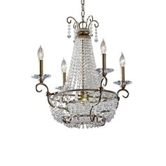 Dutchess Burnished Silver Four-Light Chandelier