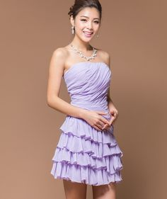 ELEGANT BRIDAL MAID PURPLE MINI SHORT SKIRTS CHIFFON EVENING FORMAL PARTY BALL GOWN PROM WEDDING DRESS