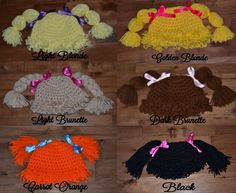 Crocheted Cabbage Patch Hat by LaurasLoopyLoops on Etsy, $32.00