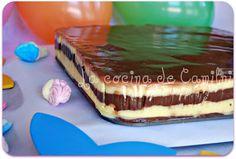 tarta de chocolate de galletas y flan de la abuela