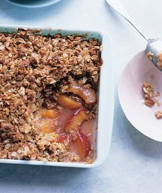 While we love a classic cobbler, we're partial to this crisp, which you can make with winter fruits such as pears or apples. Serve with vanilla ice cream for a crowd-pleasing dessert.