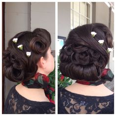 Vintage hair I have done on my little cousin. Vintage love!!