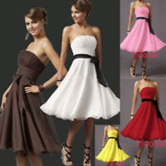 Prom gown ball evening party cocktail short mini dress