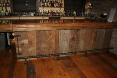 barn bar shoe rail
