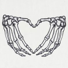 Skeleton Heart Hands design (UT15111) from UrbanThreads.com #unique_tattoo_skull