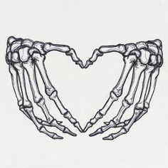 Skeleton Heart Hands design (UT15111) from UrbanThreads.com