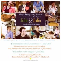 Since the movie Julie & Julia, opened on Aug. 7, 2009, Julia Child quotes have been eaten up with so much joy to those newly introduced.  #JuliaChild #buyMART #foodie #Movies #Art #Food #Chef #Africa #JuliePowell #Entrepreneur #StartUp #SouthAfrican #FoodPorn #Design #Creative #Ad #GraphicDesign #Advertising #Brand #Marketing #London #NewYork #PopArt #Instachef #SouthAfrica #AgencyLife #NoraEphron #Blogger #Paris Julia Child Quotes, Julie Powell, Nora Ephron, Competitor Analysis, Amy Adams, Some Quotes, Meryl Streep, True Stories, Entrepreneur