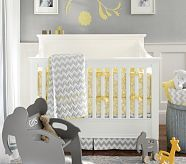 Yellow, grey and white.  Beautiful- all it needs is some atmospheric blue :)    Baby Rooms | Pottery Barn Kids