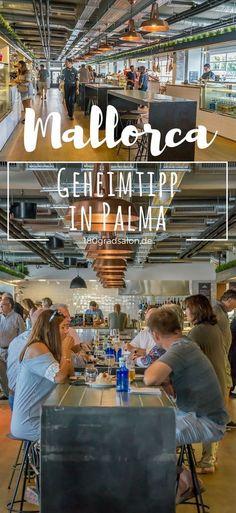 Mercat 1930 in Palma de Mallorca - Der neue Gastromarkt am Paseo Maritimo mit Hafenblick lädt Foodfreunde an 14 Foodständen zu einer kulinarischen Entdeckungsreise ein. Öffnungszeiten, Parken, und Infos gibt's hier. Restaurant-Tipp! #mallorca #mallorcaisland #palmademallorca #balearen #mallorcafeelings