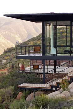 Architecture Discover Spectacular and unique Hotel Encuentro Guadalupe in Mexico. Cliff House House On A Hill My House Dream Home Design Modern House Design Houses On Slopes Steel Frame House Hillside House House On Stilts Steel Frame House, Steel House, Dream Home Design, Modern House Design, Modern Architecture House, Architecture Design, Houses On Slopes, Hillside House, Cliff House