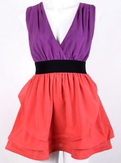 Colour Block Tiered Dress $34.99