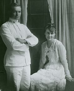 Dwight & Mamie Eisenhower. good looking couple. 1916 Wedding. Became the 34th #President of the United States 36th #FirstLady