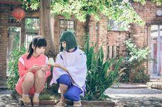 Ogino Chihiro (Spirited Away) cosplay by cxy0818 (紫姝)  and Haku  (Spirited Away) cosplay by Flower
