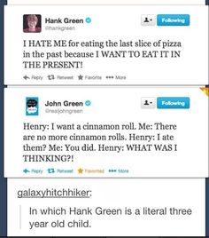 Hank Green and John Green Hank Green, John Green Funny, My Tumblr, Tumblr Funny, We Are Bears, John Green Books, Fandoms, The Fault In Our Stars, Funny Posts
