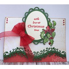 Delicate border Christmas card from #HeartfeltCreations