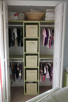 Just did something similar to both kids closets and I must say for such a small closet I have so much more room now and it looks GREAT!!!