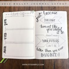 Welcome to my 2017 Bullet Journal. Once I create my future log that allows me to dump future activities and events in one place, I create a 3 month future glance for the following year with another quote that reflects something positive and forward thinking.