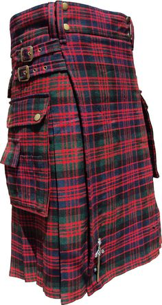 Scottish Highland Wear New Macdonald Tartan Modern Fashion Pocket ActiveMen Kilt #HamsteadKilt #ModernPocket