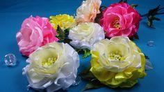 Easy ribbon flowers/Simples flores de las cintas/Простой цветок из лент