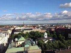 Kattojen yllä/over the roofs in Helsinki, Finland.