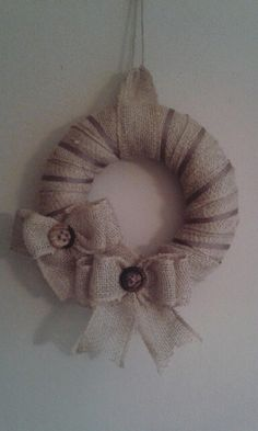 Burlap wreath with bows