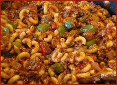 American Chop Suey on Pinterest | Wahlburgers Recipes, Johnny Marzetti ...