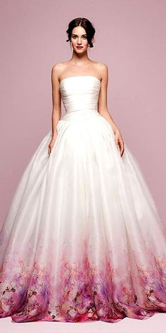 30 Ball Gown Wedding Dresses Fit For A Queen Entire Wedding Made colored wedding gowns - Wedding Gown Colored Wedding Gowns, Wedding Dresses With Color, Bridal Gowns, Gown Wedding, Dip Dye Wedding Dress, Ballroom Wedding, Wedding Shoes, Beautiful Gowns, Dream Dress