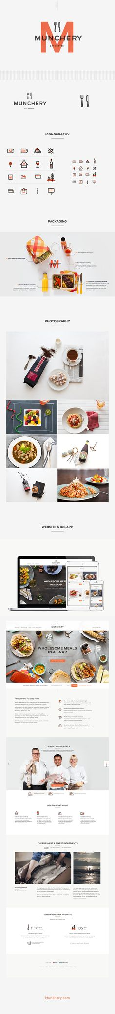 Munchery redesign with branding guidelines.