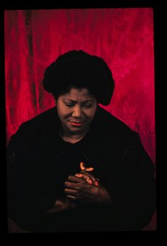 Mahalia Jackson was a gospel singer.  Her voice was truly soul stirring.  My grandmother used to listen to her often.