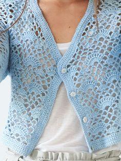 tucker Cardigan easy crochet pattern for beginners can be made in a day Crochet Bolero Pattern, Crochet Jacket, Crochet Cardigan, Crochet Yarn, Crochet Stitches, Knit Crochet, Crochet Patterns, Crochet Hooks, Easy Crochet