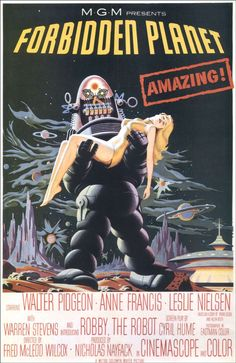 Forbidden Planet - great poster, real icon of early sci-fi movies.